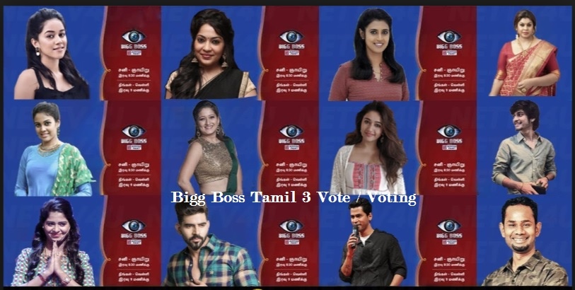 Bigg Boss 3 Tamil Vote (Online) Live Voting Result-Now