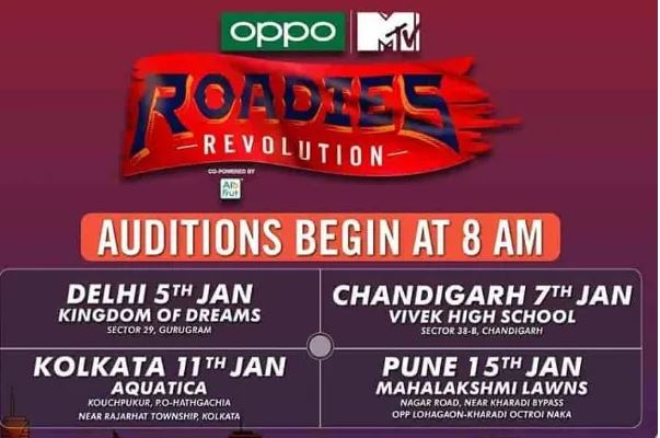 Roadies Revolution Audition, Registration