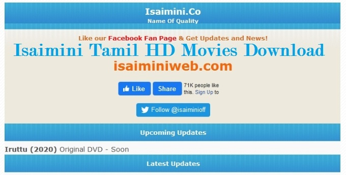 Isaimini Tamil HD Movies, Telugu, Malayalam, Bollywood Dubed Download