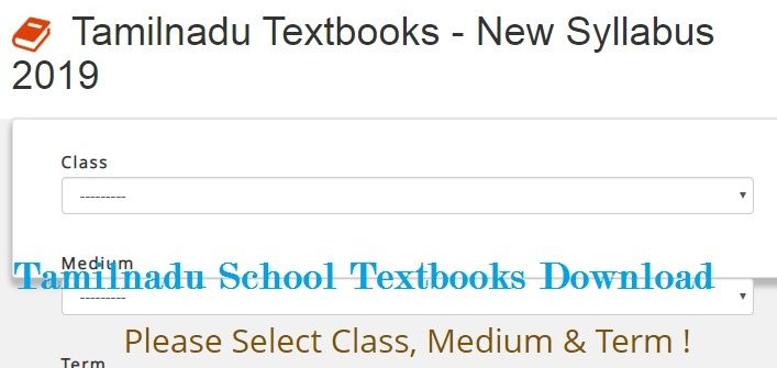 Tamilnadu School Textbooks Free Pdf File Download Online